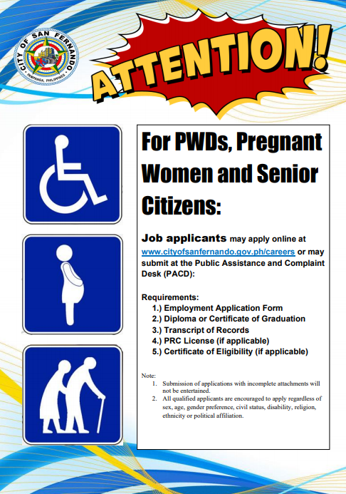 Jobs for PWDs