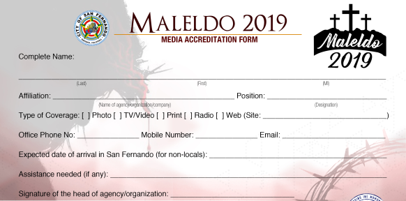 The accreditation for the coverage of MALELDO 2019 is now open. Deadline of submission is on April 12, 2019