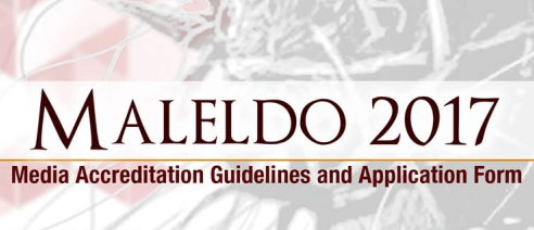 Maleldo 2017 Media Accreditation Form