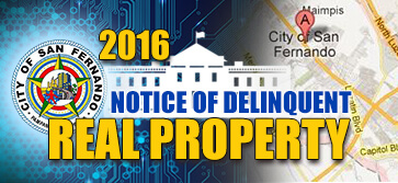 Notice of sale delinquent real property...