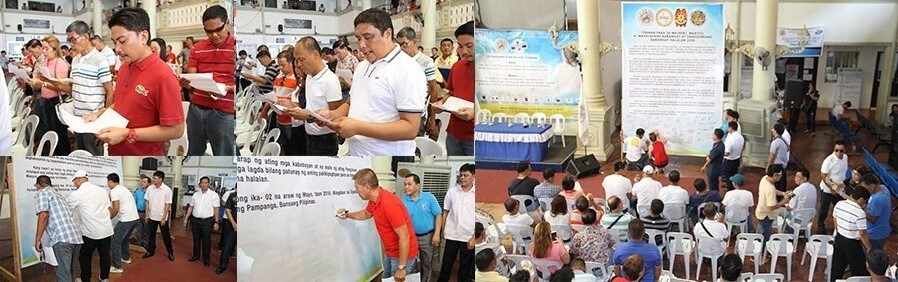 Peace Covenant Signing among aspiring Barangay Chairmen in CSF takes place