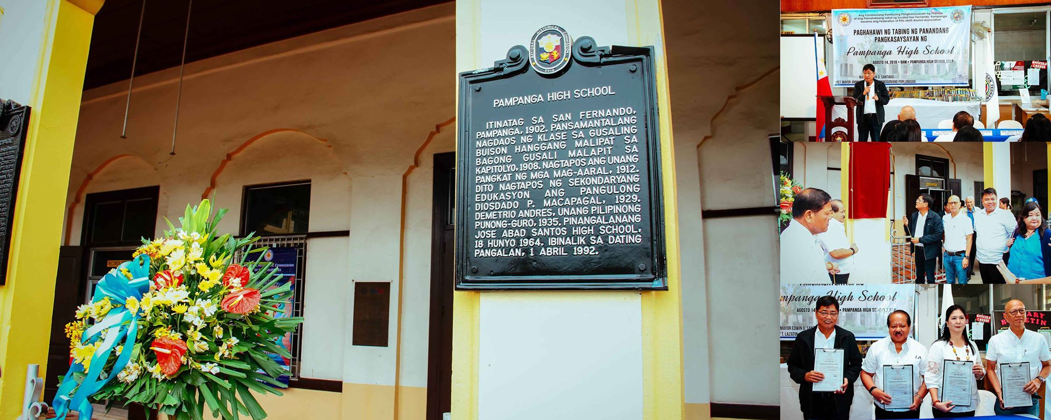 CSF, NHCP unveil PHS Historical Marker