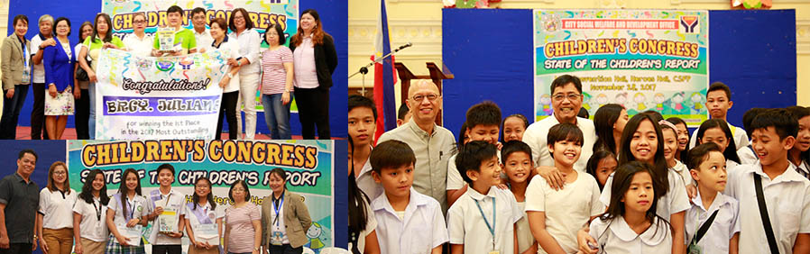 Mayor EdSa presents State of the Children's report