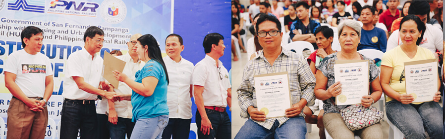 CSF distributes lot awards to PNR residents