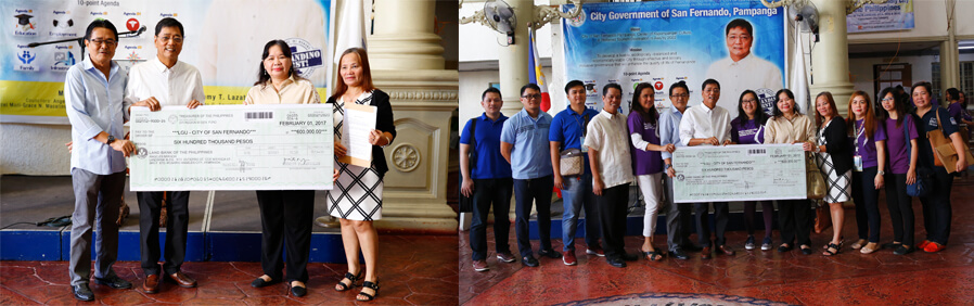 CSF receives BUB check from DTI for investment projects