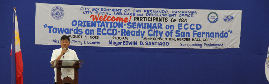 San Fernando Holds Early Childhood Care Development Seminar