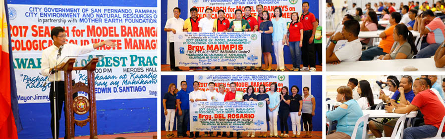Del Rosario, Maimpis named CSF's Best Barangays on ESWM