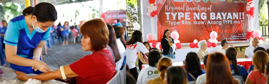 'Type ng Bayan' blood typing program launched in CSF