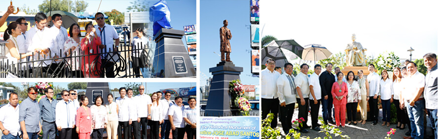 Historical monument of Jose Abad Santos unveiled in CSF
