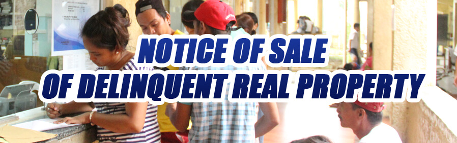 Notice Of Sale Of Delinquent Real Property